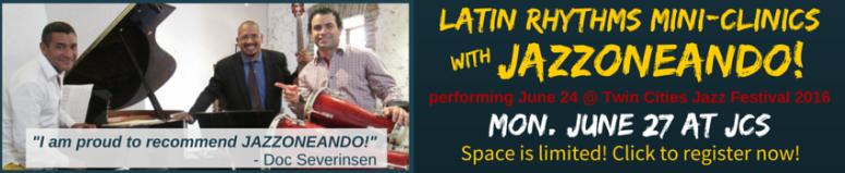 Latin Rhythms Mini-Clinics banner
